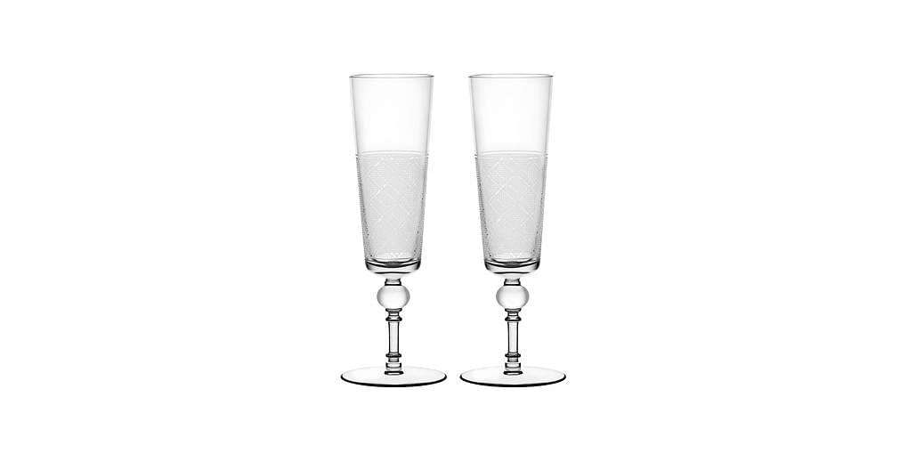 Christofle champagne flutes