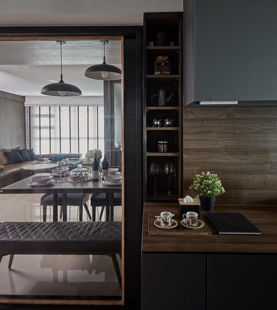 House Tour: A 5-room Punggol HDB Flat With Dark Finishes