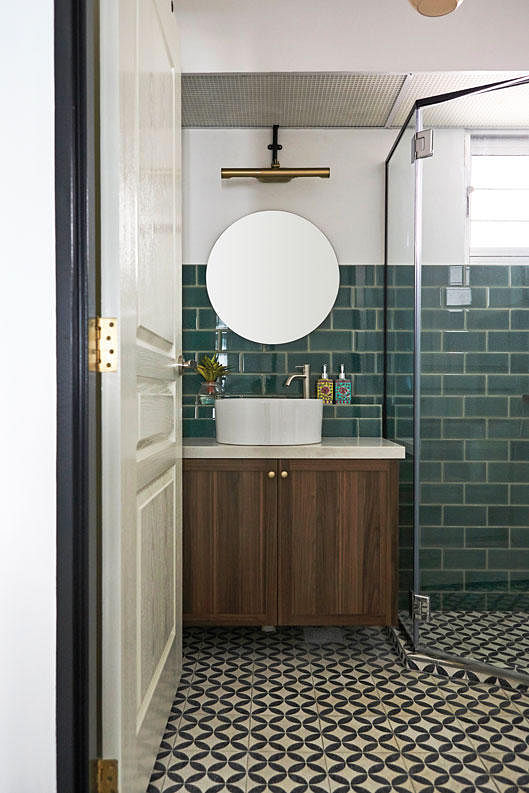 Subway tiles emerald m3 studio