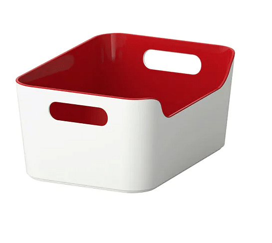 10ikea red storage box