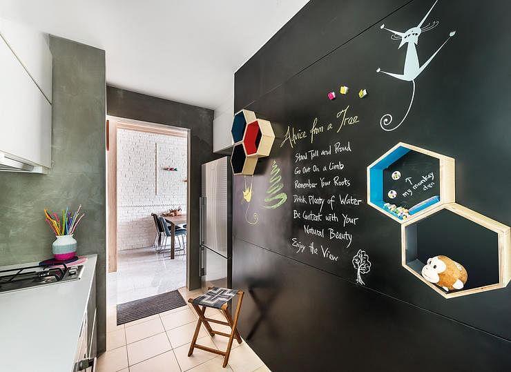 Interior Design By Prozfile Blackboard Kitchen 4