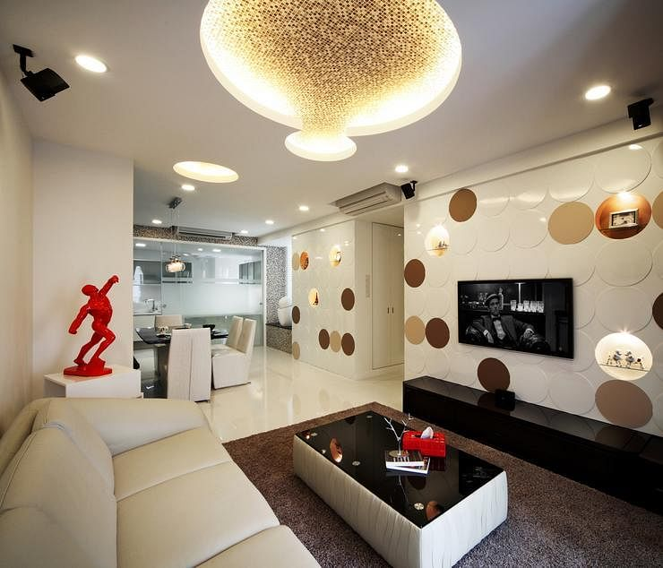 Ceiling circular pattern & HDB flat: 7 things to do to your ceiling | Home u0026 Decor Singapore