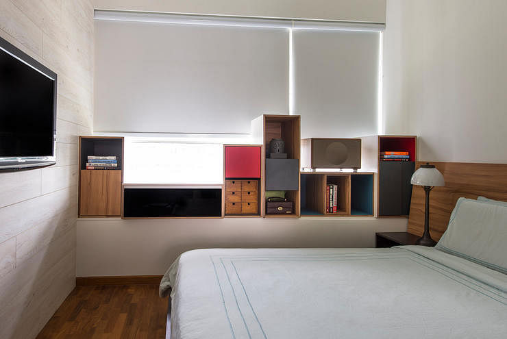 Easy ways to smarten up a small bedroom home decor for Interior design bedroom singapore hdb