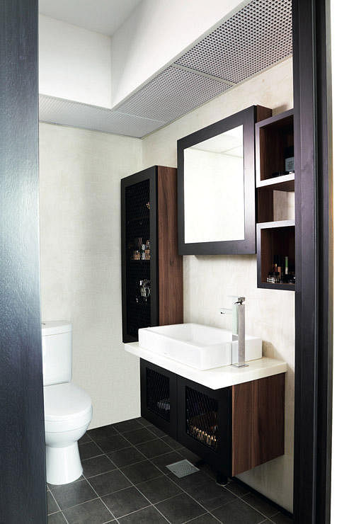 Cosy 4 room hdb flat with an industrial touch home for Hdb bathroom design ideas