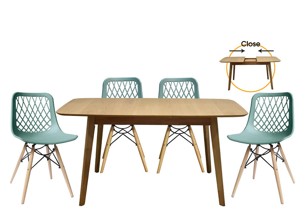 Cotton extendable dining table from Star Living