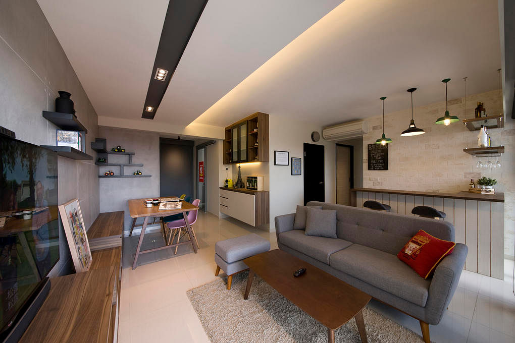 House Tour: $30K scandi-style HDB flat with two custom feature ...