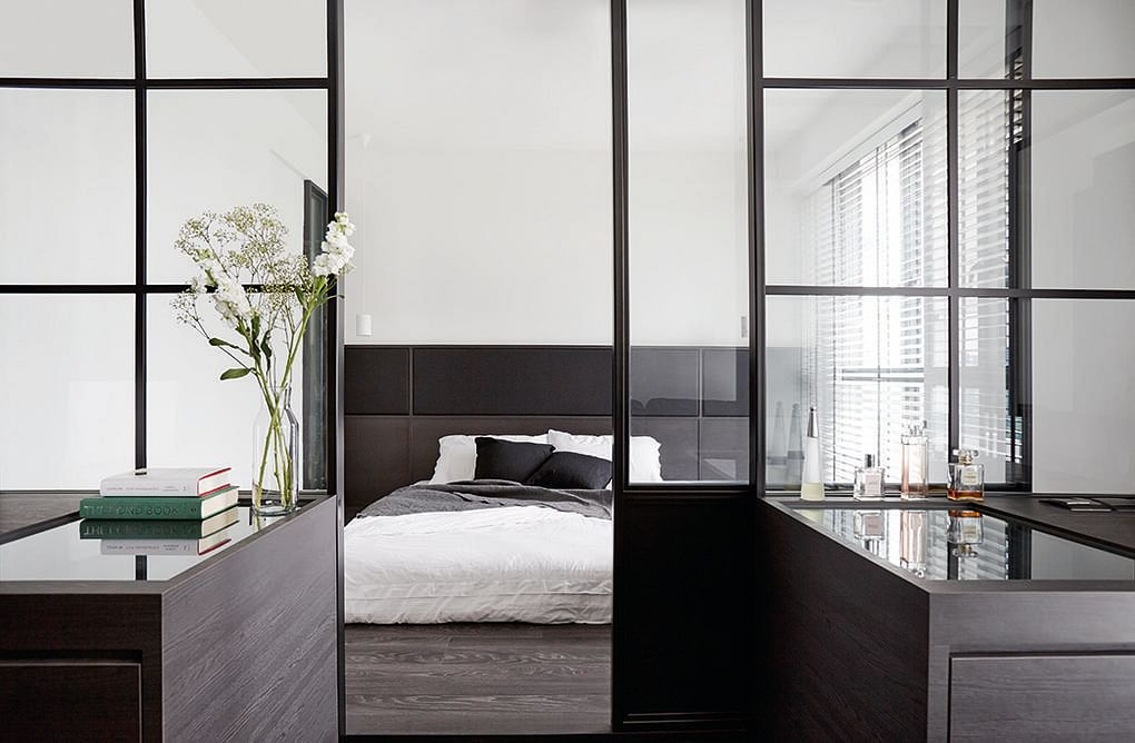 7 homes with black-framed glass-panel partitions | Home & Decor ...