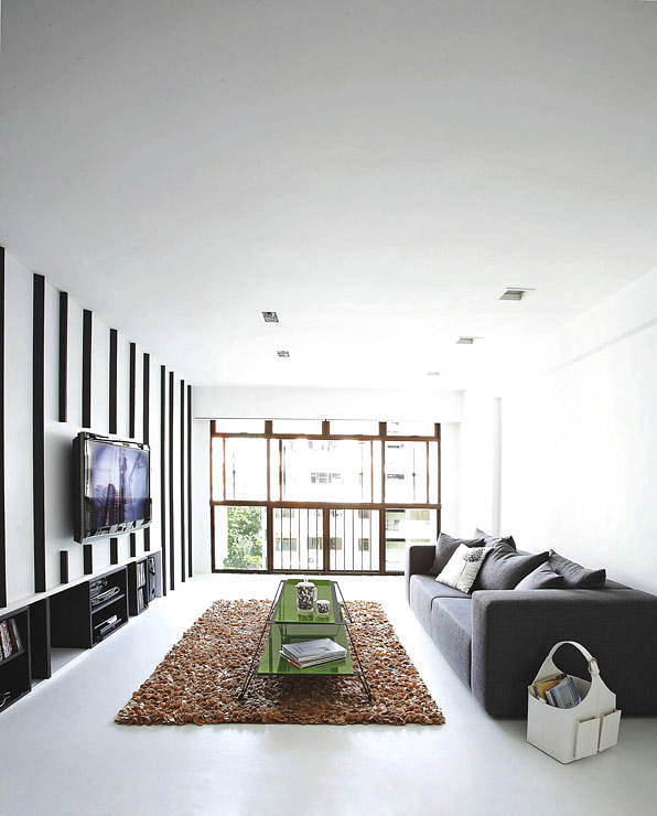 Home Design Ideas For Hdb Flats: House Tour: $60,000 Minimalist, Black-and-white Interiors