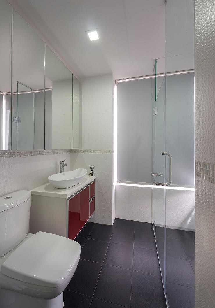 A small condo unit packed with space saving ideas home decor singapore Bathroom design company limited