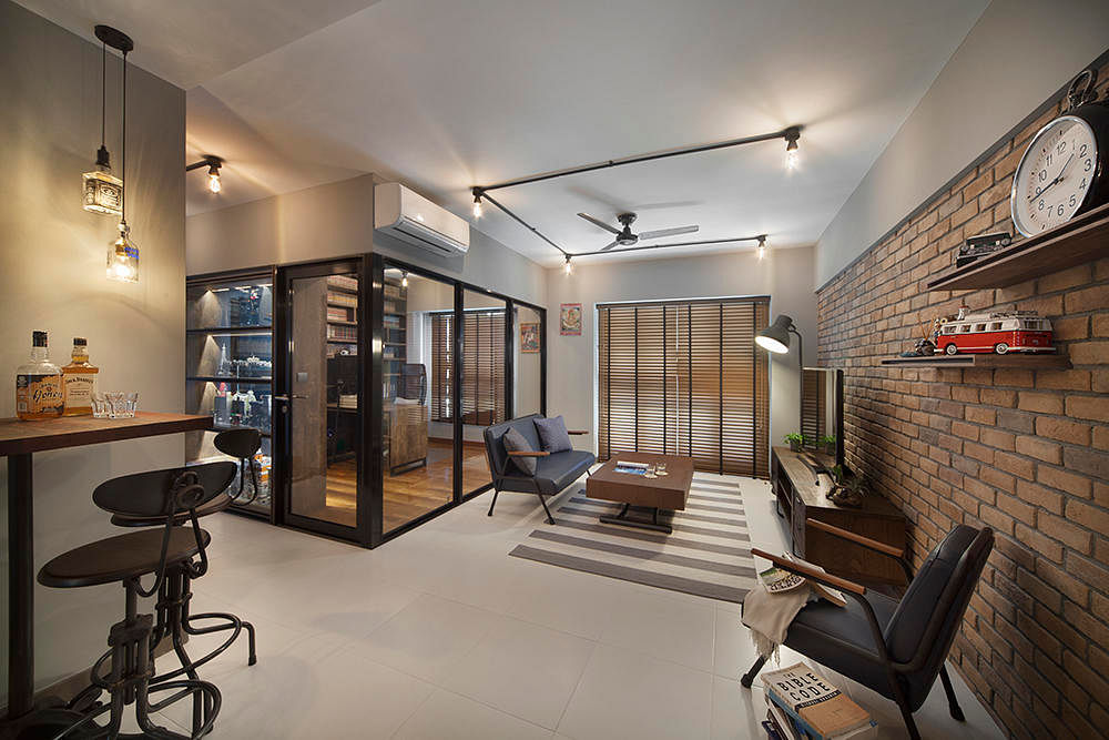 8 design ideas for your living room from industrial to modern contemporary home decor for Interior design jobs singapore