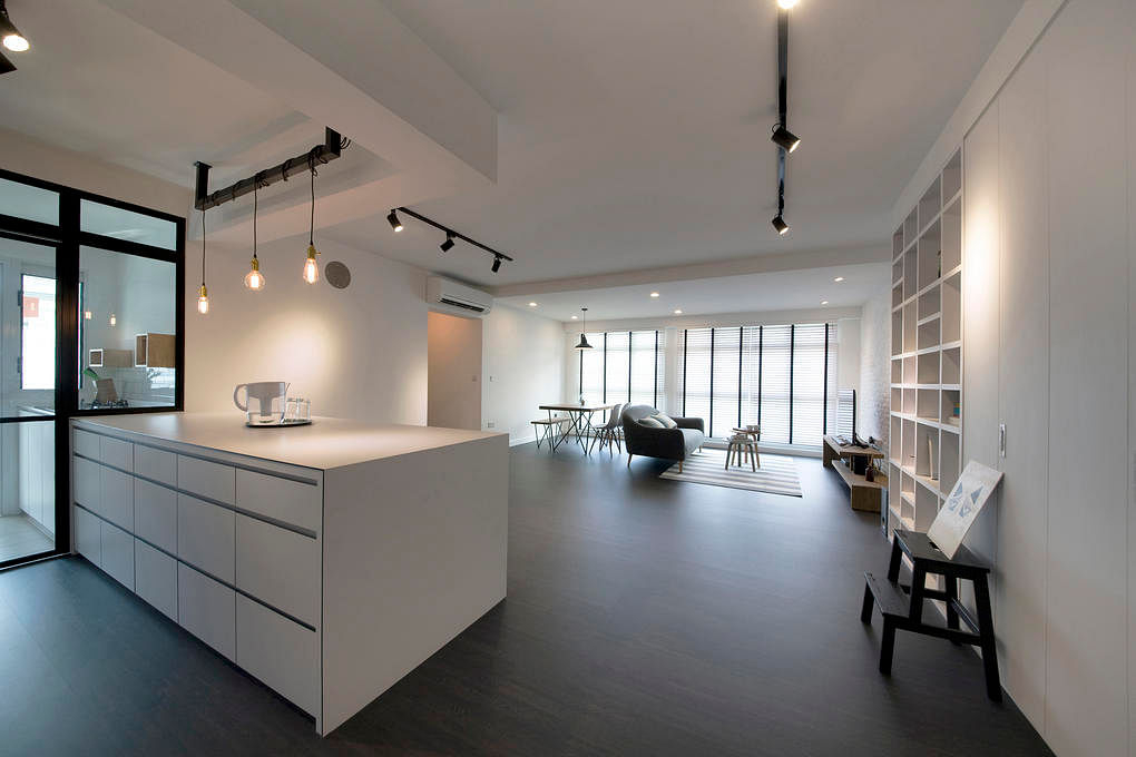 8 loft style spaces in hdb flat homes home decor singapore for Minimalist home design singapore