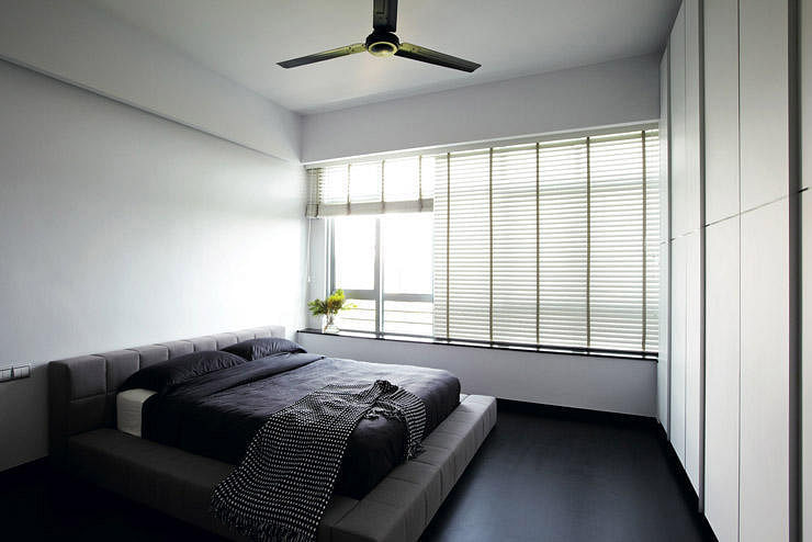12 stylish minimalist bedrooms home decor singapore for Minimalist home design singapore