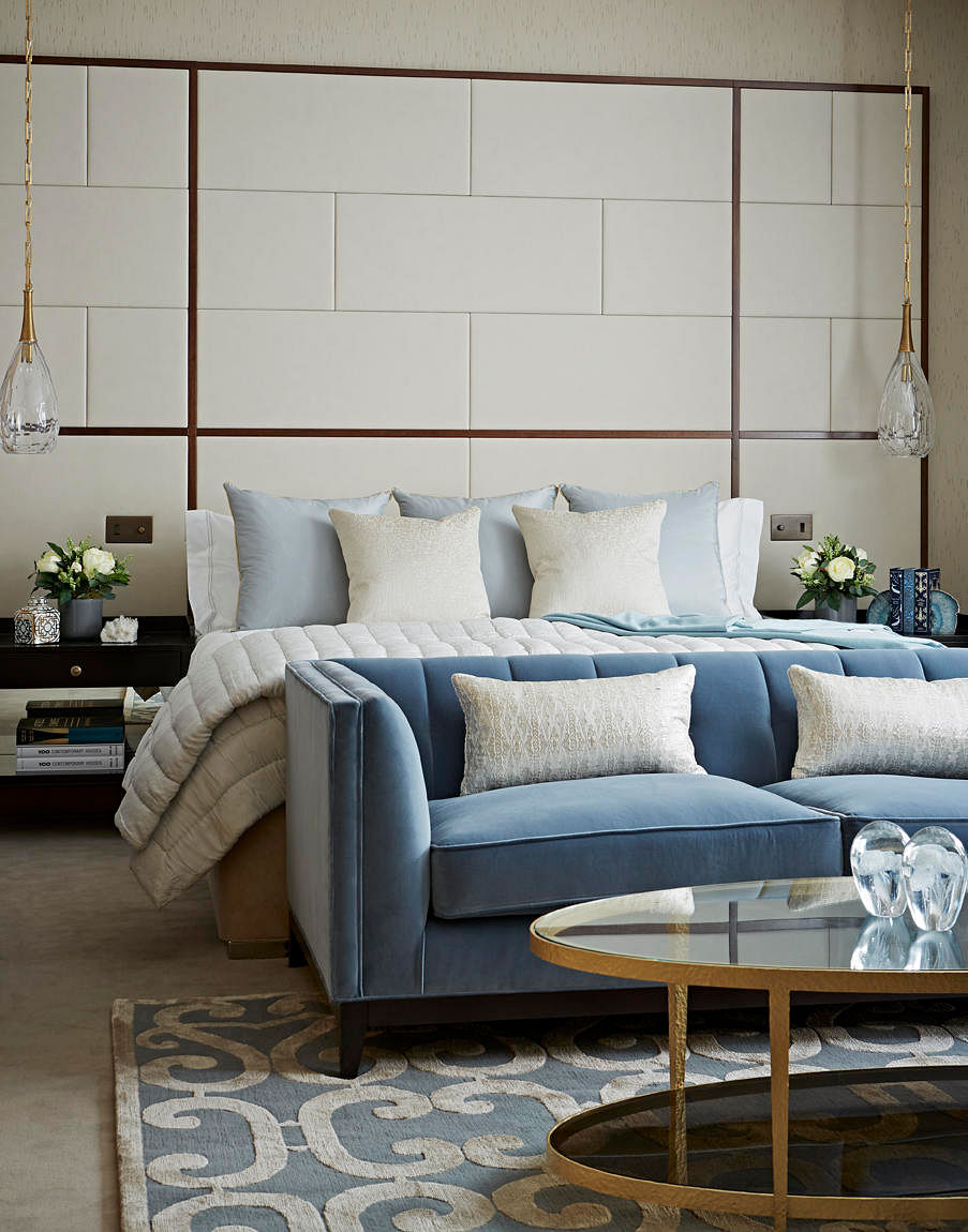 Luxurious And Contemporary Apartment Clad In Shades Of Blue Cream Home amp Decor Singapore