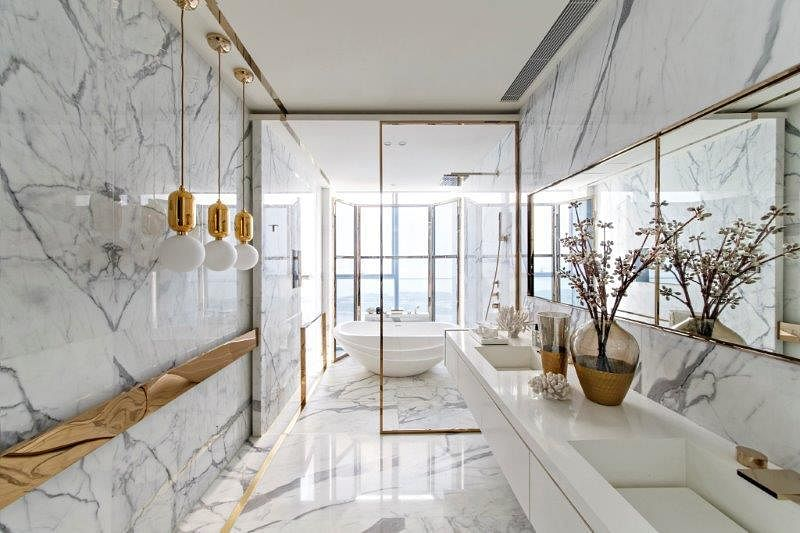 Stunning modern classic interiors of the One Shenzhen Bay showflats 16