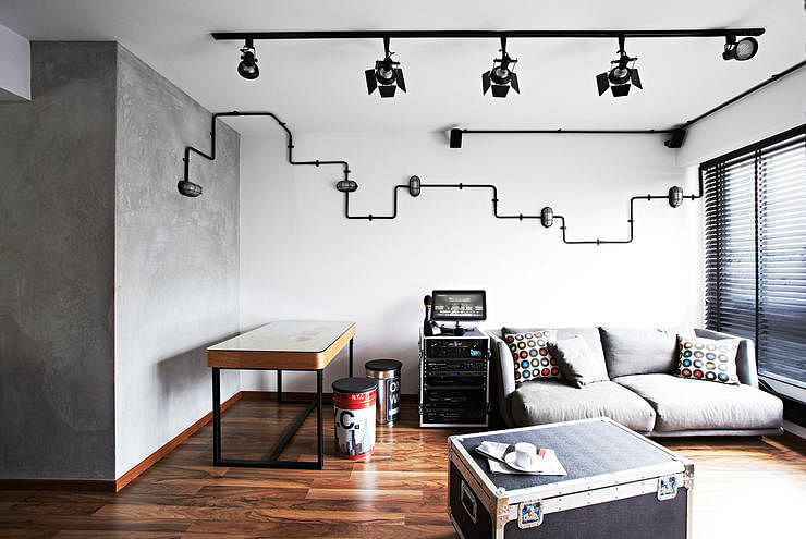 industrial design lighting. 10 Industrial Style Homes With Exposed Pipes And Trunking Design Lighting N