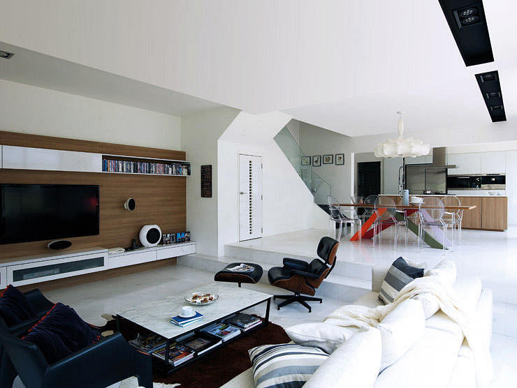 10 elegantly clean cut TV console and feature wall design ideas ...