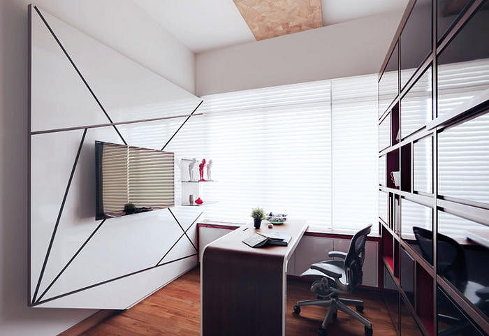 Home Office Design Ideas Use The Bay Window For Your Work Space Or