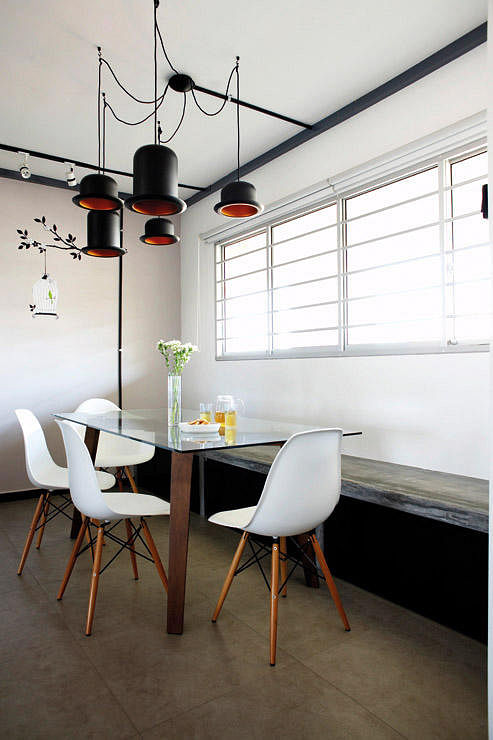 Singapore Hdb Room With Study Table: Dining Room Design Ideas: 4 Different Trendy Looks For HDB