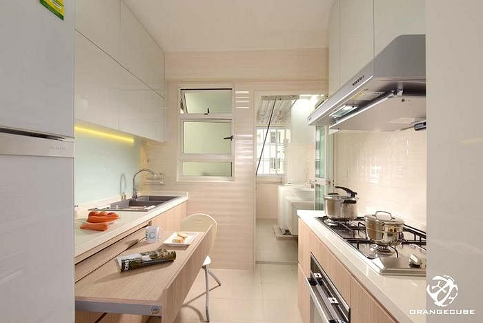 Superbe Kitchen Design Ideas: 8 Stylish And Practical HDB Flat Gallery Kitchens