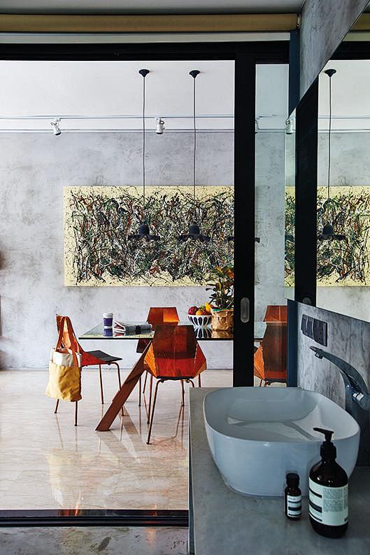Open Concept Bathroom Vanity Design Idea