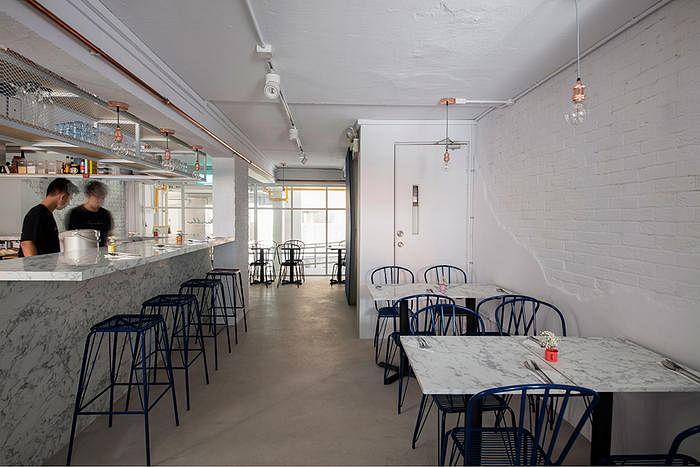 marble bistro & cafe // minimalist industrial | home & decor singapore