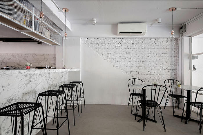 Marble Bistro Amp Cafe Minimalist Industrial Home