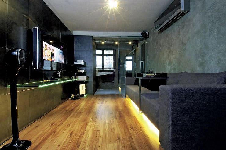 House Tour Dark And Minimalist Three Room Hdb Flat Home Decor