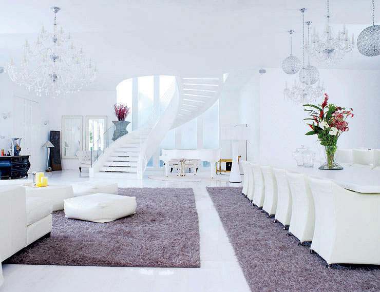 Living Room All White Ious Luxury