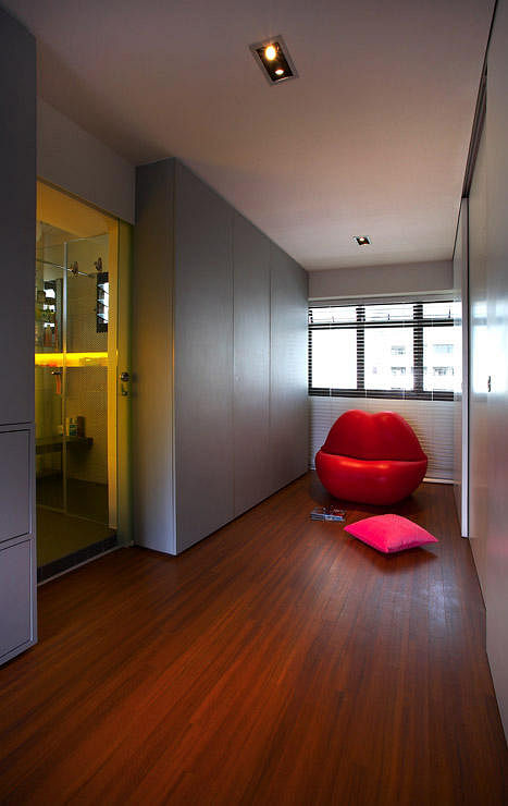 House tour contemporary architectural hdb flat home for Small flat renovation ideas