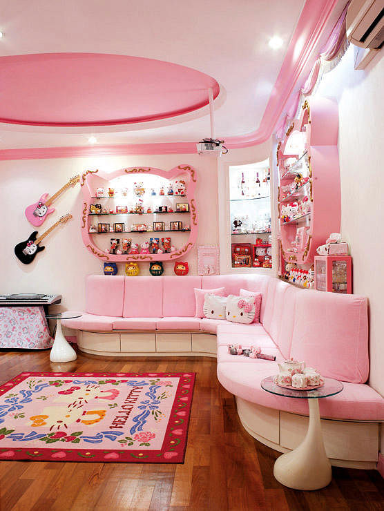 Home Biggest Hello Kitty Fan Ever on living dining design inspiration