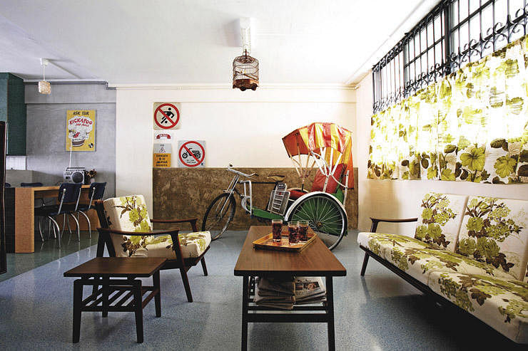Style hdb flat decorated with a trishaw home amp decor singapore