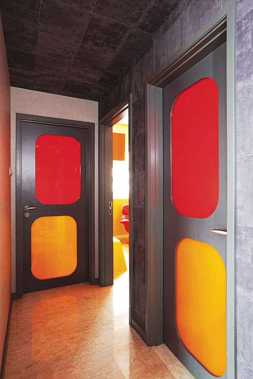 corridor, colourful, door way, futuristic, passageway, home and decor, renovation,
