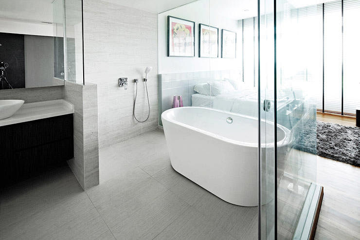 7 open concept bathrooms for your hdb flat home decor for Small bathroom ideas hdb