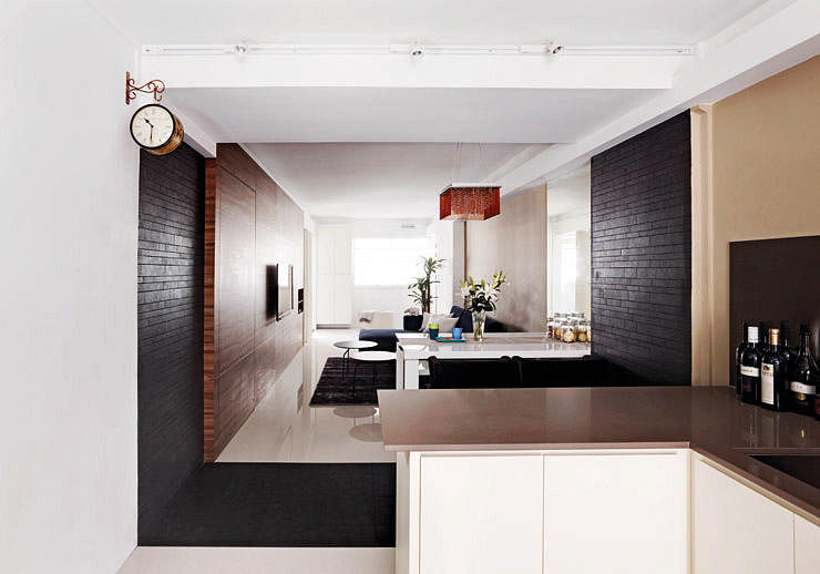 10 Stylish Open Concept Kitchens With Peninsula Counters In Hdb Flats Home Amp Decor Singapore