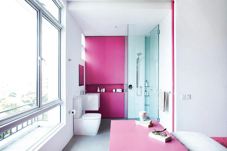 7 open-concept bathrooms for your HDB flat | Home & Decor Singapore