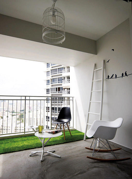 6 creative things to do with a hdb flat 39 s balcony home for Balcony ideas singapore