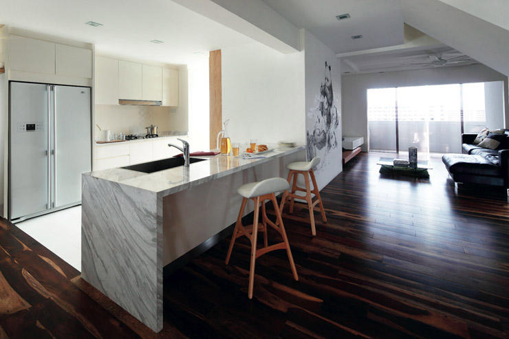48 Stylish Openconcept Kitchens With Peninsula Counters In HDB Stunning Open Concept Kitchen Design Property