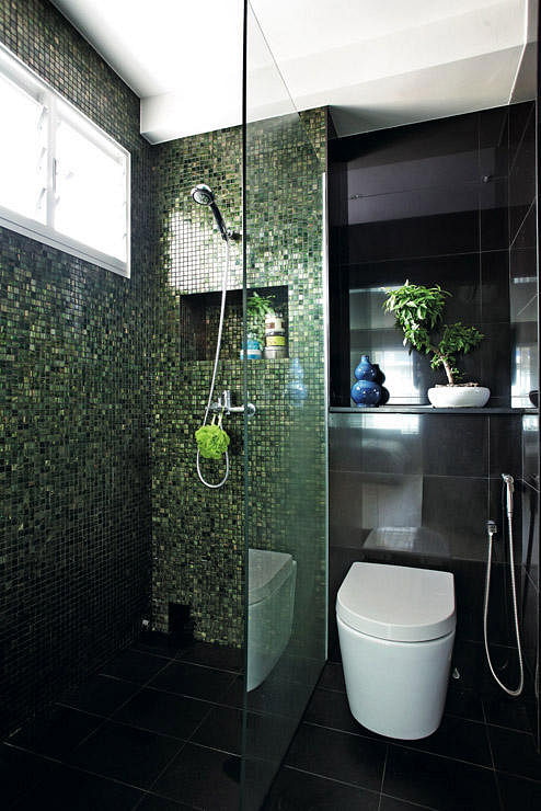 9 Bathroom Designs That Use Dark Colours Home Decor Singapore