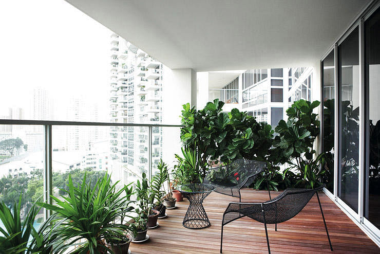 balcony metal furniture (Interior design ...