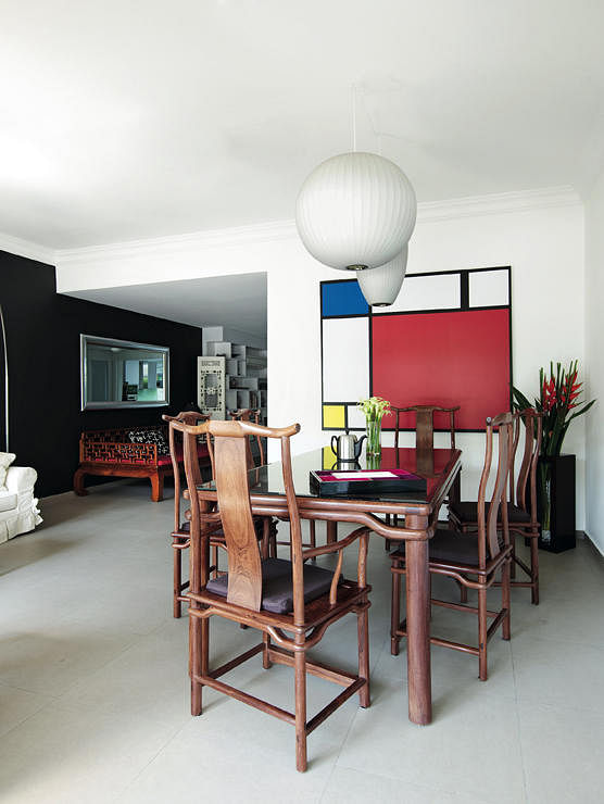 House tour a uniquely singapore asian modern home home for Oriental furniture singapore