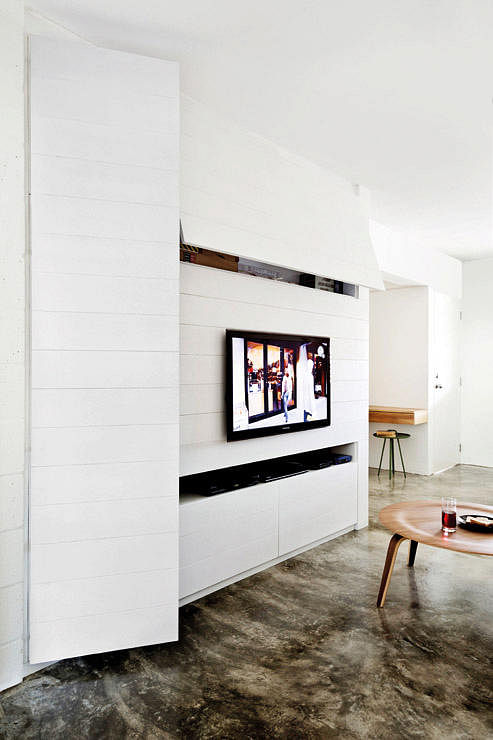 Feature Wall Design Bedroom : Elegantly clean cut tv console and feature wall design
