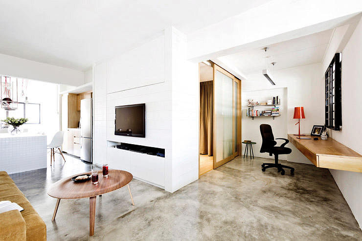 Hdb Home Decor Ideas Part - 39: HDB, Three-room Flat, Living Room, Open-concept