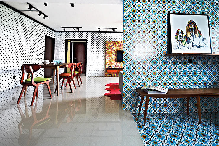 10 design ideas for feature walls in hdb flat homes home decor singapore - Vintage kitchen features work modern kitchen ...