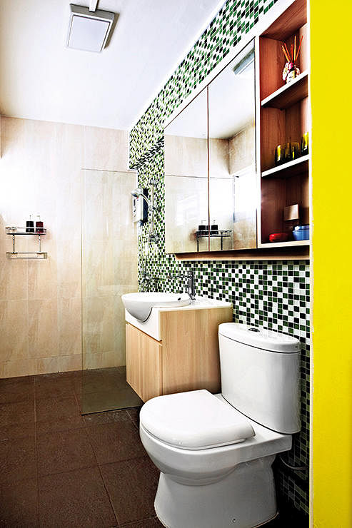 10 incredibly chic bathrooms with tile inspiration home for Bathroom ideas singapore
