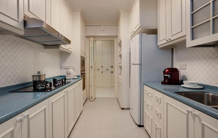 I 39 d love to have a white kitchen but how to prevent it for Abs trimming kitchen cabinets