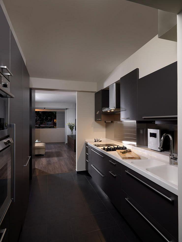 Renovation types of kitchen sinks home decor singapore for Cocinas modernas blancas