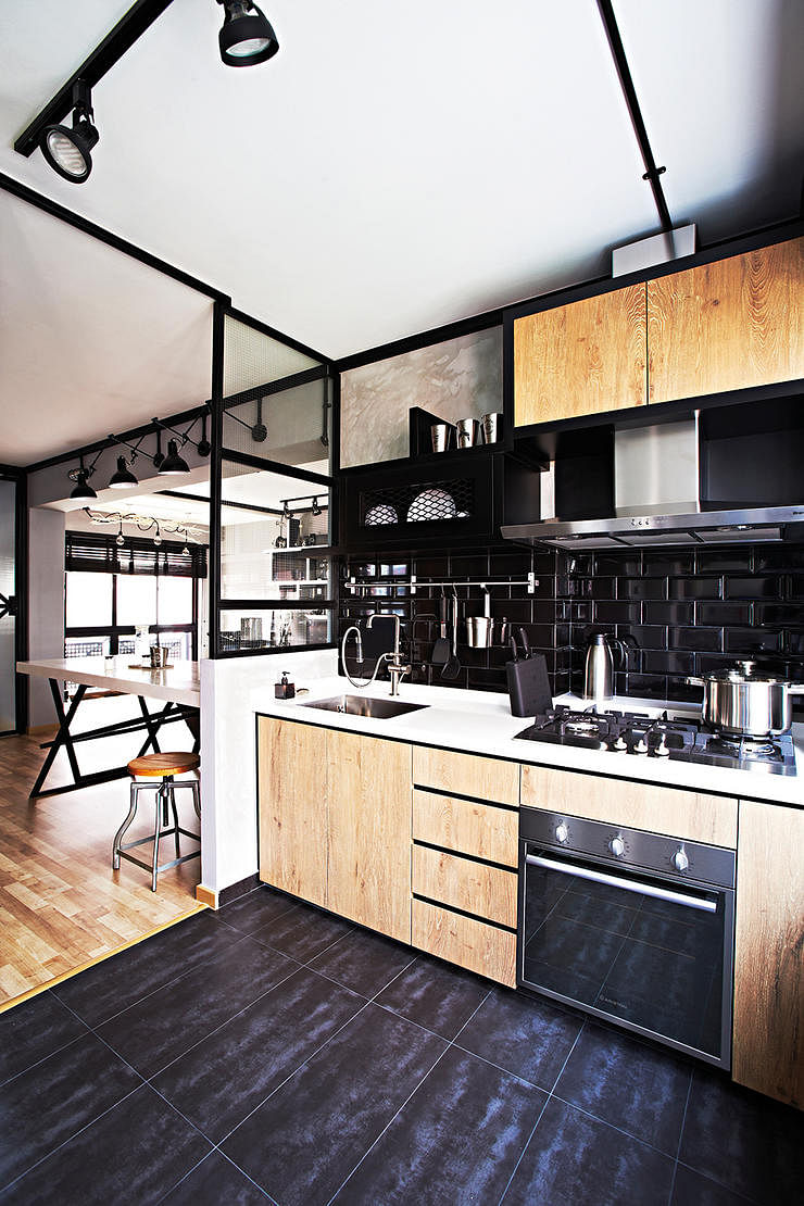 How to visually enlarge a small kitchen Home Decor Singapore