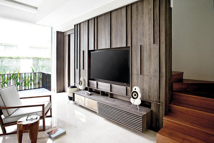 Living room design ideas 7 ways for wall mounted tvs for Home decor ideas singapore