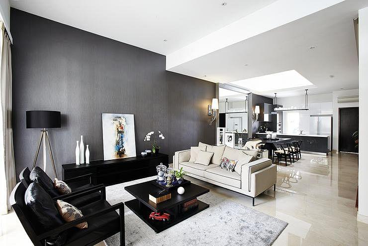Living room design ideas arranging furniture in an open - Open concept living room furniture placement ...