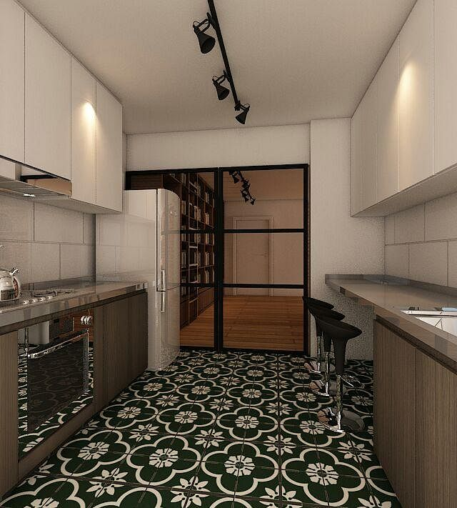 Kitchen Tiles Singapore homes with eye-catching flooring tiles | home & decor singapore
